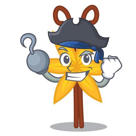 Pirate vanilla character cartoon style vector illustration Illustration