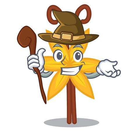 Witch vanilla mascot cartoon style vector illustration Illustration