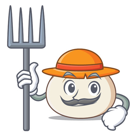 Farmer dimsum character cartoon style