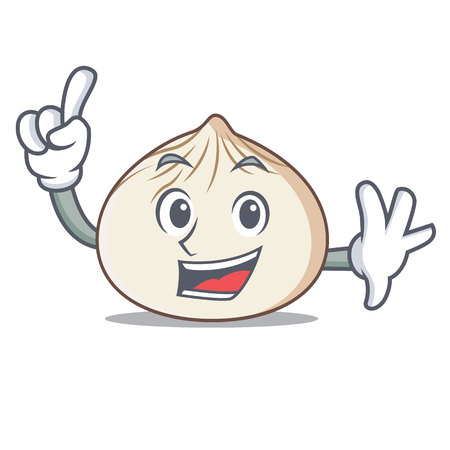 Finger dimsum mascot cartoon style vector illustration Vectores