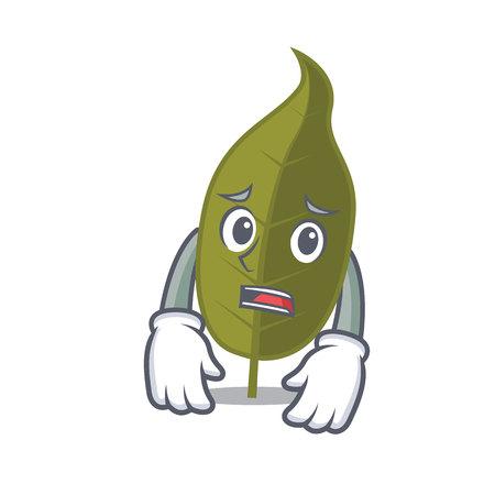 Afraid bay leaf mascot cartoon vector illustration Ilustracja