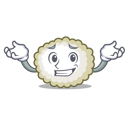 Grinning cotton ball character icon