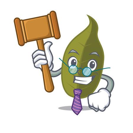 Judge bay leaf mascot cartoon