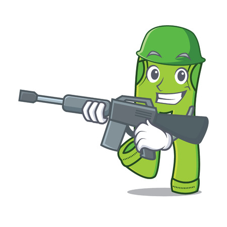 Army pants character cartoon style vector illustration Illustration