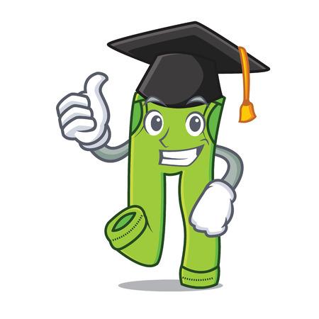 Graduation pants character cartoon style vector illustration