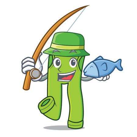 Fishing pants character cartoon style vector illustration