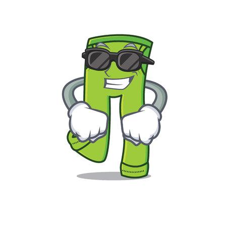 Super cool pants character cartoon style illustration. Illustration