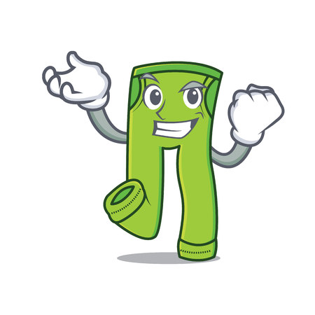 Successful pants character cartoon style vector illustration