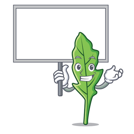 Bring board arugula character cartoon style vector illustration