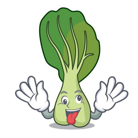 Crazy bok choy mascot cartoon Illustration