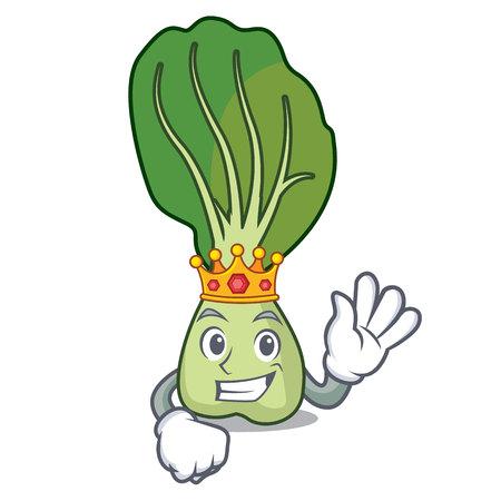 King bok choy mascot cartoon
