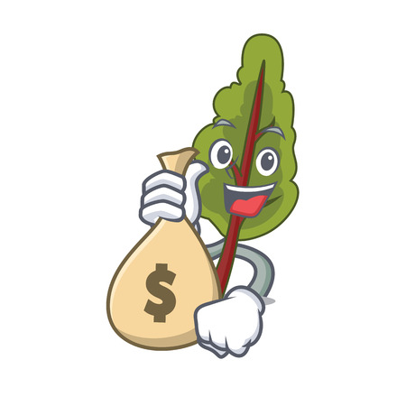 With money bag chard character cartoon style
