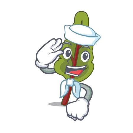 Sailor chard character cartoon style