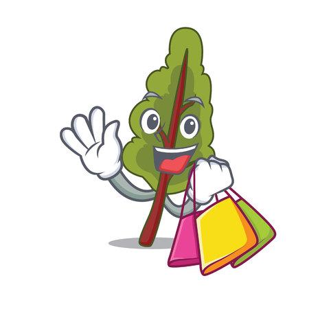Shopping chard character cartoon style isolated on plain background.