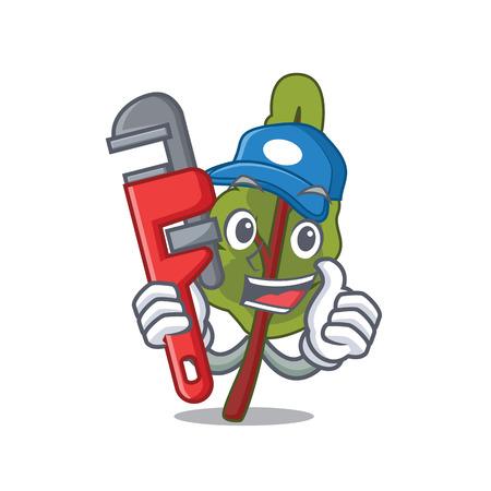 Plumber chard mascot cartoon style vector illustration