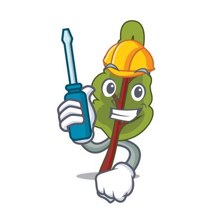 Automotive chard mascot cartoon style vector illustration