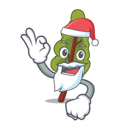 Santa chard mascot cartoon style vector illustration
