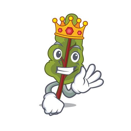King chard mascot cartoon style vector illustration