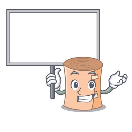 Bring board medical gauze character cartoon vector illustration Illustration