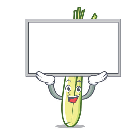 Up board lemongrass character cartoon style vector illustration.