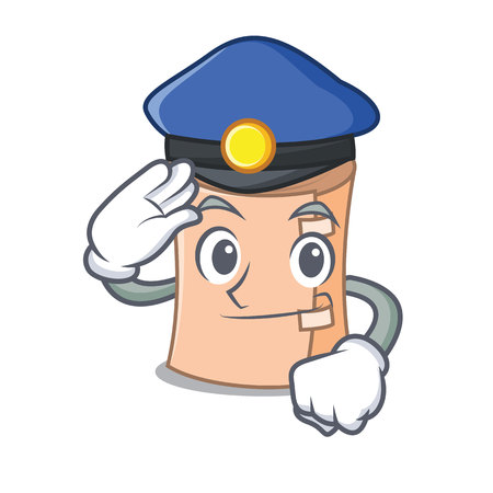 Police medical gauze character cartoon vector illustration.