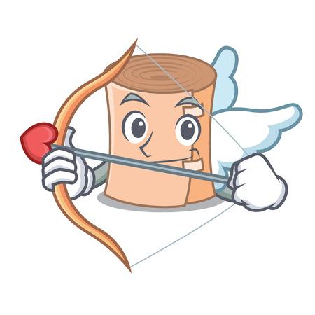 Cupid medical gauze character cartoon vector illustration.