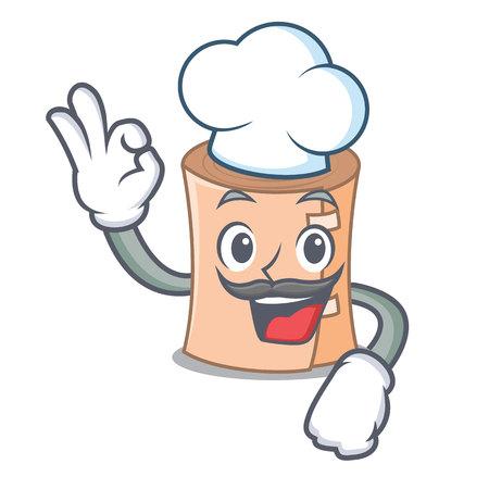 Chef medical gauze character cartoon vector illustration