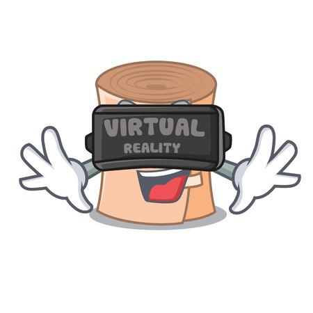 Virtual reality medical gauze mascot cartoon vector illustration
