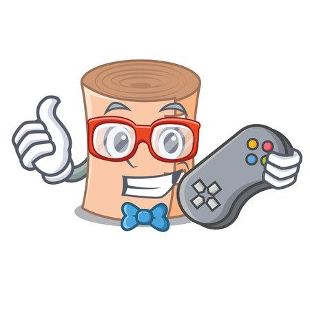 Gamer medical gauze mascot cartoon vector illustration