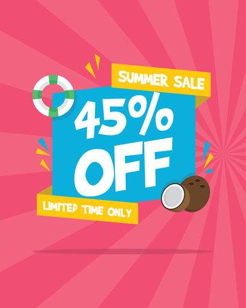 Summer sale marketing banner party vector illustration