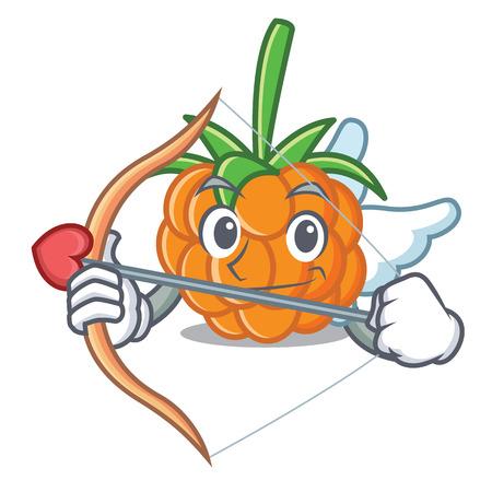 Cupid cloudberry character cartoon style vector illustration Illustration