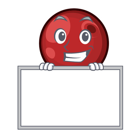 Grinning with board cranberry character cartoon style vector illustration Illustration