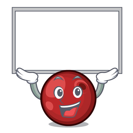 Up board cranberry character cartoon style vector illustration