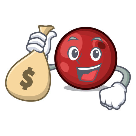 With money bag cranberry character cartoon style vector illustration