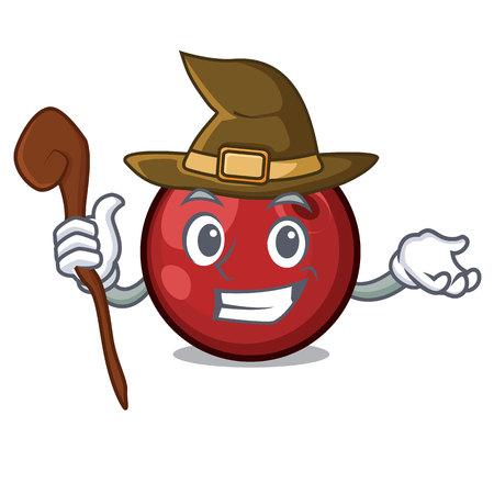 Witch cranberry mascot illustration