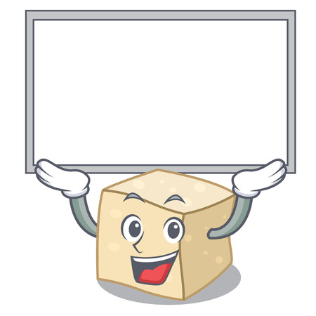 Up board tofu character cartoon style vector illustration