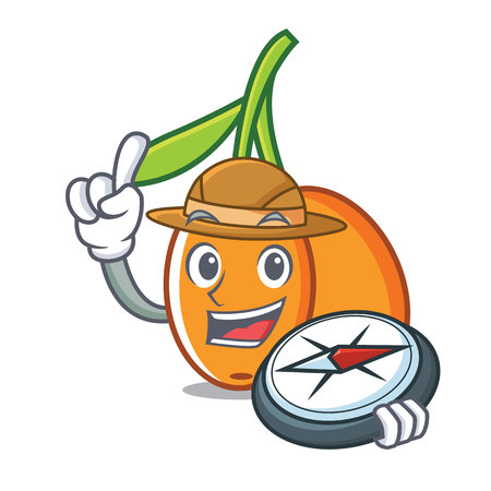 Explorer buckthorn mascot cartoon style vector illustration