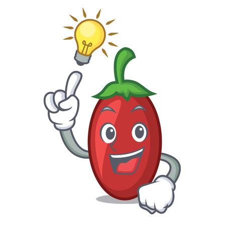 Have an idea goji berries mascot cartoon vector illustration