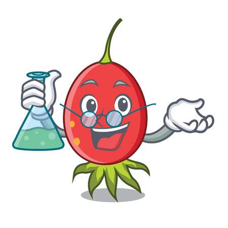Professor rosehip character cartoon style Illustration
