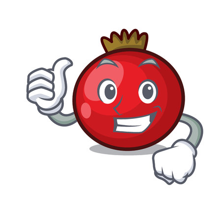 Thumbs up red currant character cartoon vector illustration