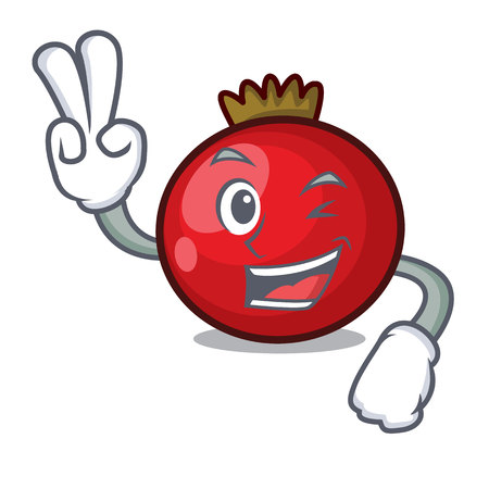 Two finger red currant character cartoon vector illustration