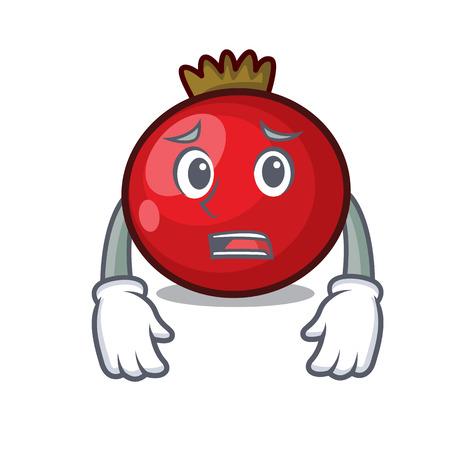 Afraid red currant mascot cartoon vector illustration