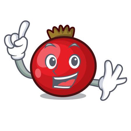 Finger red currant mascot cartoon vector illustration Illustration