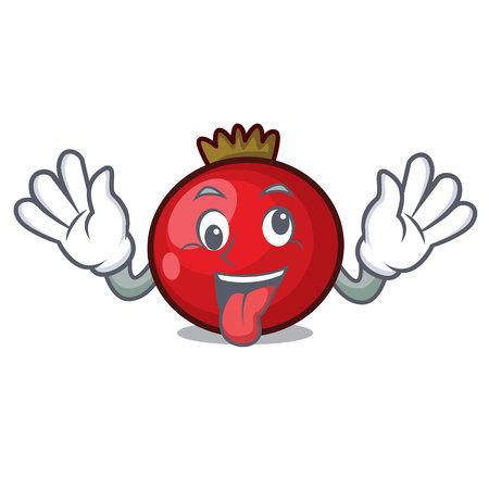 Crazy red currant mascot cartoon vector illustration Illustration
