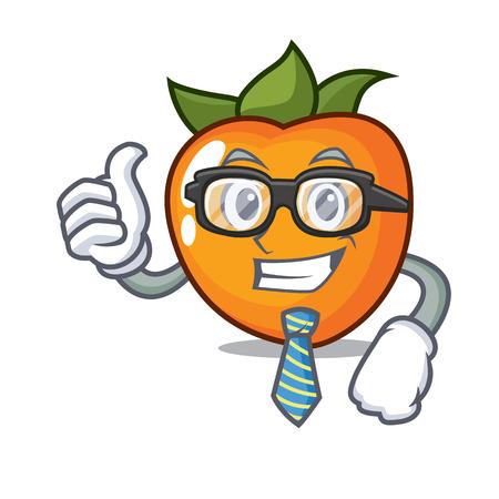 Businessman persimmon character cartoon style vector illustration