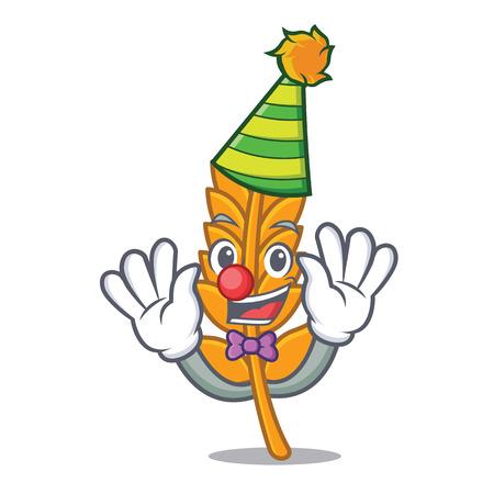 Clown wheat mascot cartoon style vector illustration Illustration