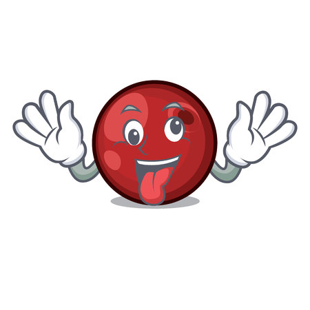Crazy cranberry mascot cartoon style vector illustration Illustration