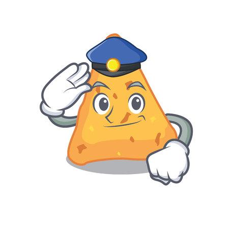 Police nachos character cartoon style vector illustration Illusztráció