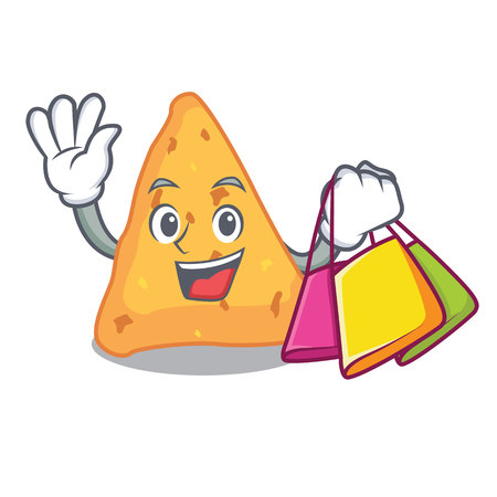 Shopping nachos character cartoon style vector illustration Vettoriali