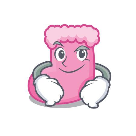 Smirking sock character cartoon style vector illustration Illustration